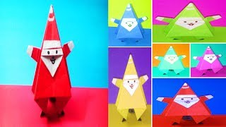 How to make paper santa claus | Paper Santa | Easy Christmas Craft for Kids