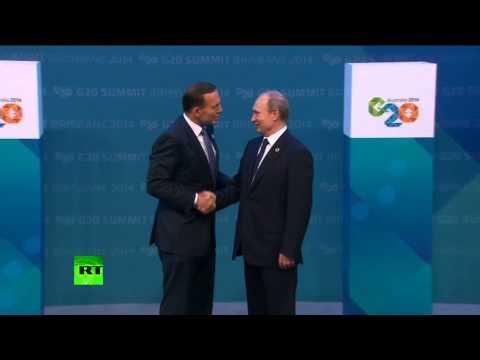 Владимир Путин и Тони Эбботт сфотографировались перед открытием саммита G20