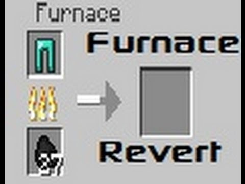 Chaz's Minecraft Mod Reviews - Furnace Revert Mod! Recycle Items!