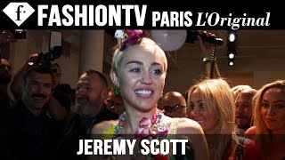 Miley Cyrus Front Row at Jeremy Scott Spring/Summer 2015 | New York Fashion Week NYFW | FashionTV
