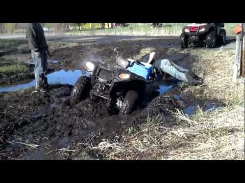 ATV POKER RUN APRIL 2012 - DEEP MUD HOLE!!!