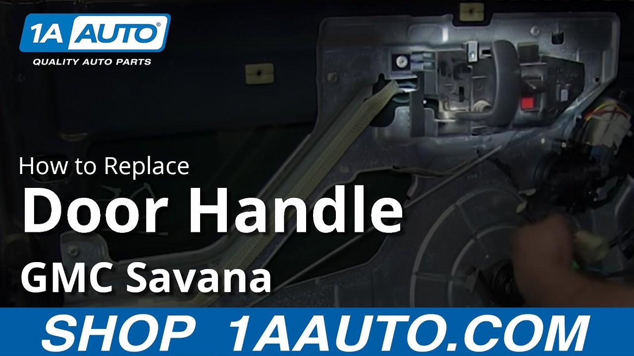 How to install replace front inside door handle 2003 13 - 1997 chevy silverado interior parts ...
