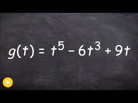 2.2 Finding the zeros and multiplicity of a polynomial function to the fifth degree - Online tutor