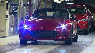 Mazda MX-5 production line at the Ujina plant | 宇品工場のマツダMX-5生産ライン
