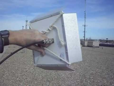 Using a 2.4 GHz 15.5 dBi Flat Panel Antenna to track RF noise and interference