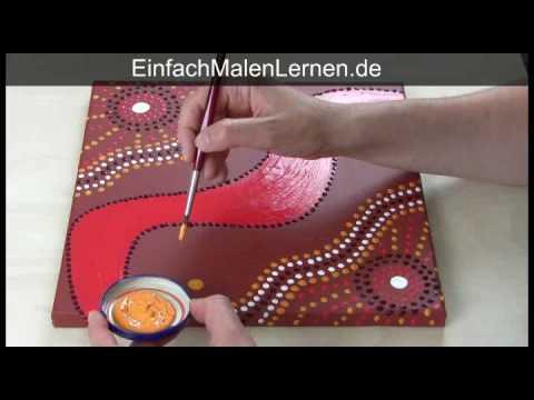 Malkurs aborigini technik youtube - Acrylbilder vorlagen kostenlos ...