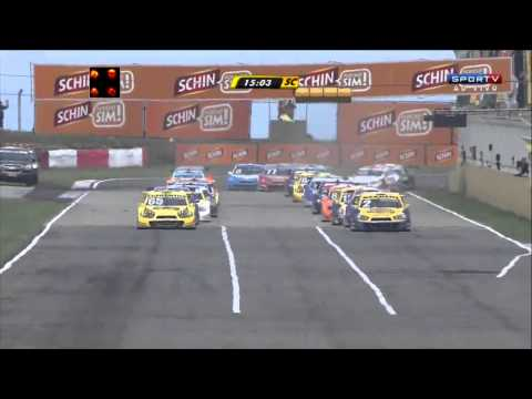 Nunes and Feldmann Big Crash @ 2014 Stock Car Santa Cruz Race 2