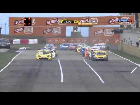 Nunes and Feldmann Big Crash @ 2014 Stock Car Santa Cruz Race 2