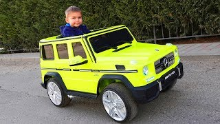Funny Dima Unboxing And Assembling The POWER WHEEL Ride On New Jeep AMG