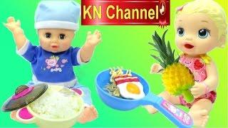 BÚP BÊ BABY ALIVE NẤU MÌ ĂN LIỀN Toy kitchen playset HELLO KITTY Kids Toys