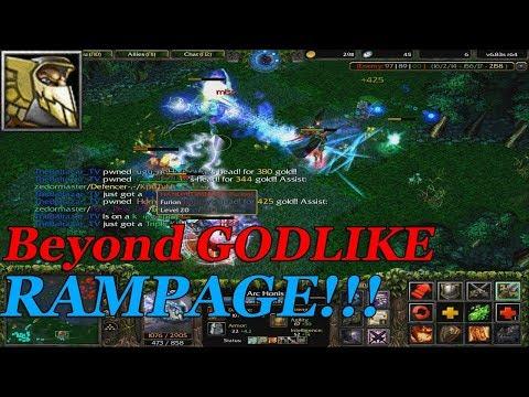DOTA 1 - Dragon Knight RAMPAGE + Beyond GODLIKE! (Hard Game)