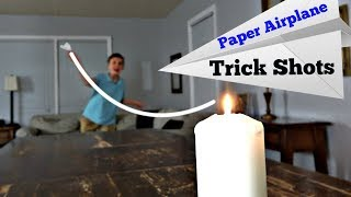 Paper Airplane Trick Shots | That's Amazing