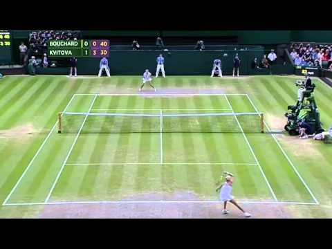 Kvitova dukes out amazing rally - Wimbledon 2014
