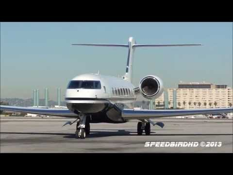 Steve Wynn's Private Gulfstream G650 [N711SW] Landing and Taxi to FBO