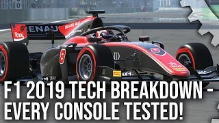 [4K] F1 2019 - PS4/ Pro vs Xbox One/ X - The Complete Console Analysis!