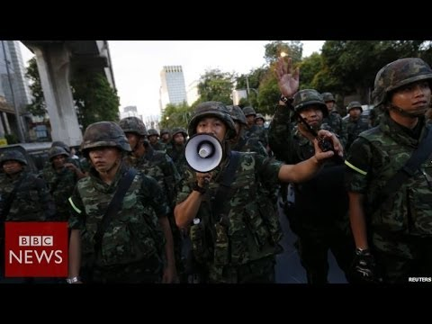 Thai army: 'We are neutral' - BBC News