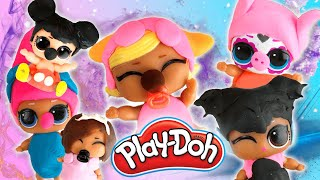 LOL Surprise Dolls Lil Sisters Play-Doh Cartoon Characters Contest! With Posh! | LOL Dolls Families
