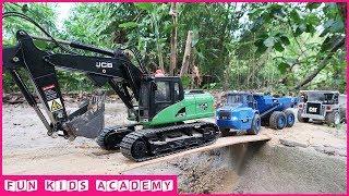 Excavator song | Excavator RC | Excavator JCB, CAT, Trucks CAT, Dump Truck Working | Videos for Kids