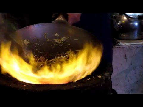 Big Fire Wok Stir Fry (Xi'an, China)  Noodles And Fried Rice