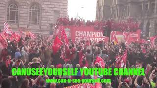 Liverpool F.C 2019 Champions League Cup Winners, Cup Parade Albert Docks Liverpool