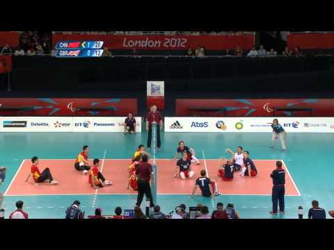 Sitting volleyball (men) - China v Great Britain - London 2012 Paralympic Games