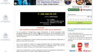 Manually Remove FBI Department of Defense Virus, Removal Tips