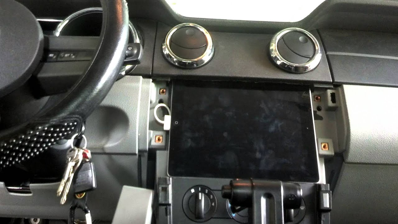 How To Install Ipad In Dash Of 06 Mustang Gt Youtube