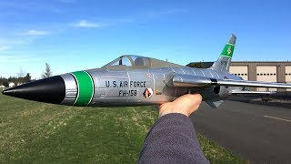 Freewing F-105 Thunderchief 64mm EDF Jet Slow Passes and Speed Test
