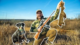 BACKYARD Squirrel Hunting CHALLENGE!!! (Puppy's First Hunt)
