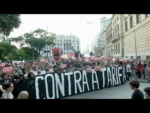 Brazil: Dozens arrested in Sao Paolo transport protest