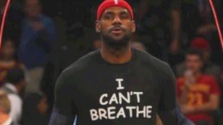 NBA players protest Eric Garner chokehold death decison