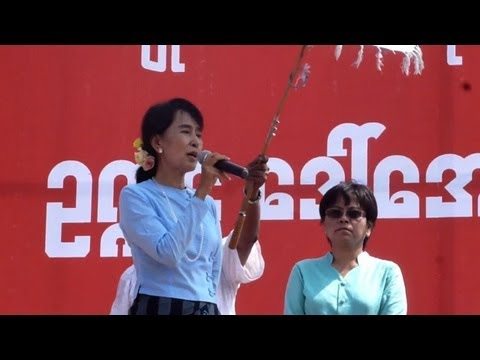 Suu Kyi tells Myanmar rally she is back to health