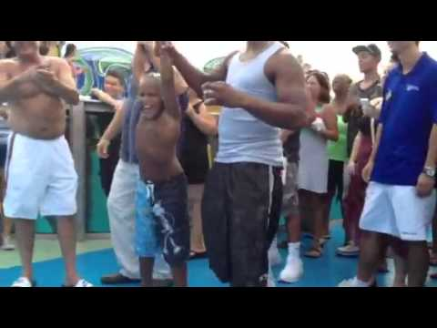 Dante wins dance competition on Bahamas celebration cruise.