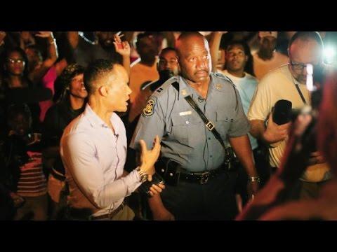 On the streets in Ferguson