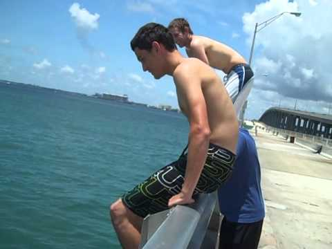 Key Biscayne Bridge jump