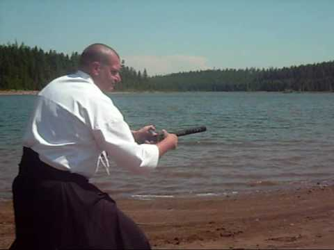 125-KENJUTSU TRAINING AND PRACTICING MY SHAKUHACHI FLUTE AT CLEAR LAKE, MT. HOOD OREGON Image 1