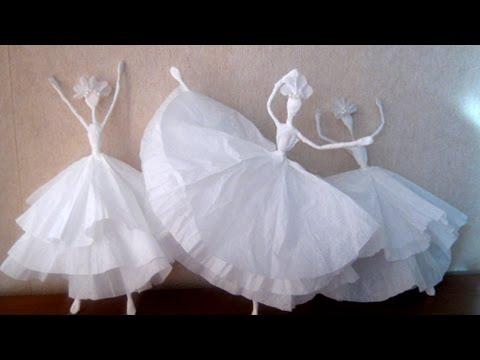 Как своими руками сделать балерину из салфеток и проволоки