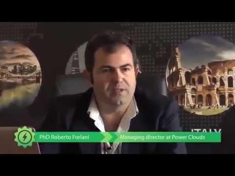 interview de Roberto Forlani sur le concept Power clouds