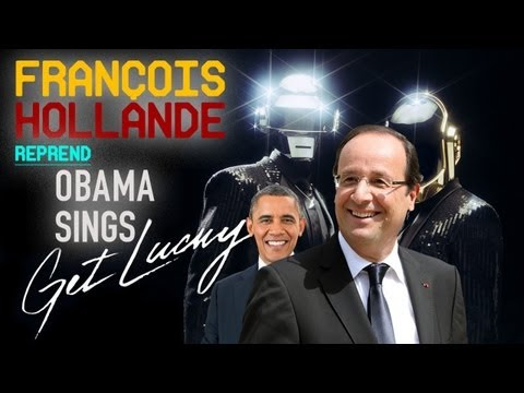 Après Barack Obama, François Hollande reprend Get Lucky de Daft Punk (ft Pharrell)