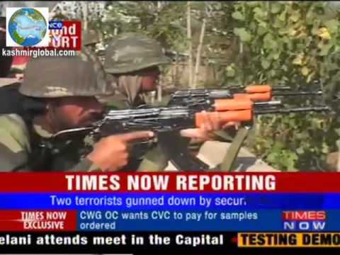Kashmir Encounter Indian troops vs militants in Srinagar outskirt