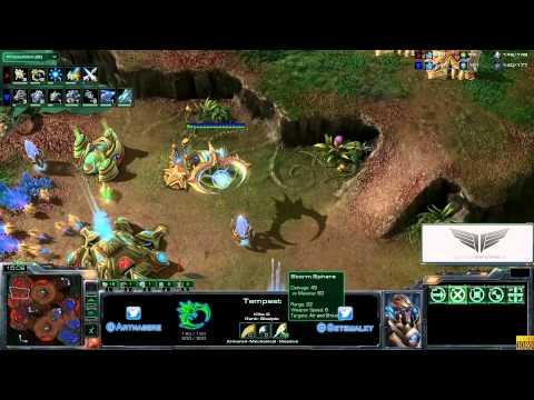 Gameplay Starcraft II: Heart of the Swarm - TvP Nuevas Unidades Español