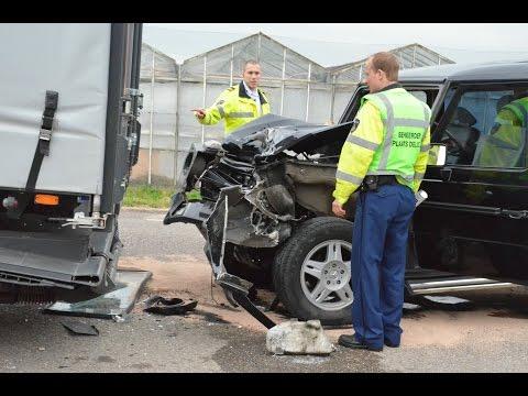 Mercedes-Benz G-Class Crash, Safest car at Cor Millenaar.G-Klasse, de veiligste auto ter wereld!