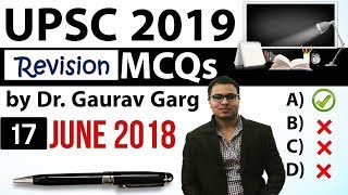 REVISION - UPSC 2019 Preparation - 17th June 2018 Daily Current Affairs for UPSC / IAS 2019