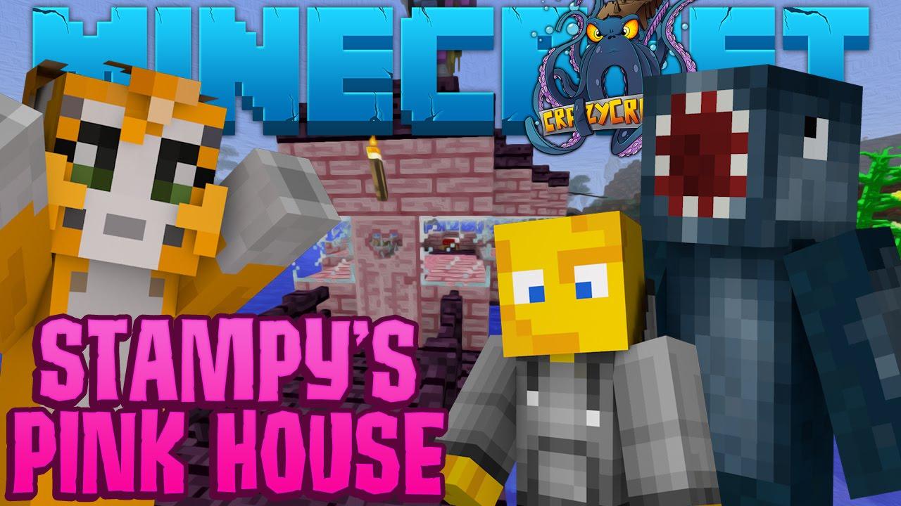 Minecraft crazy craft 2 2 stampy s pink house 8 youtube