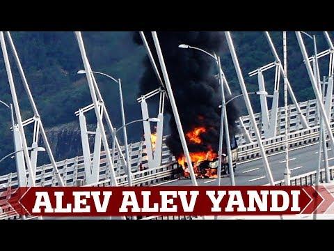 Yavuz Sultan Selim Köprüsü'nde Araç Yangını