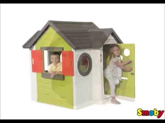 smoby my house cabane de jeux en plastique prix comparer sur. Black Bedroom Furniture Sets. Home Design Ideas