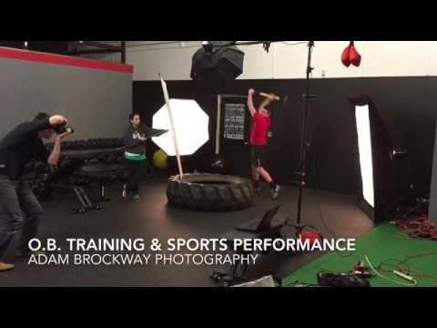 O.B. Training & Sports Performance Photo shoot with Adam Br