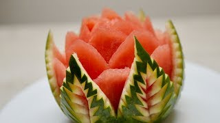 NEW IDEA TO MAKE A FLOWER IN WATERMELON / Fruit & Vegetable Carving