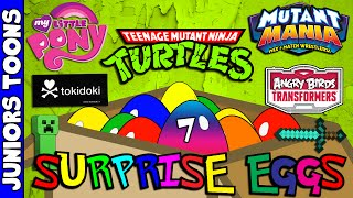 Opening Cartoon Surprise Eggs #7 | TokiDoki, Mutant Mania, Angry Birds, My Little Pony, TMNT