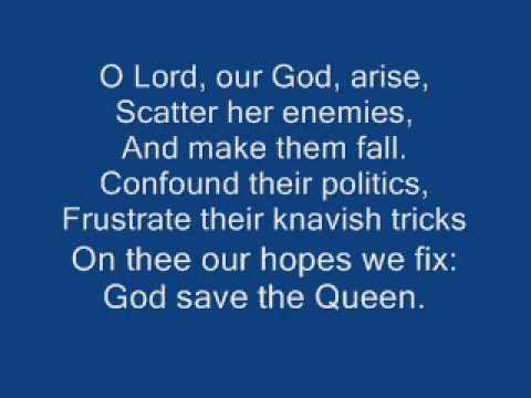 god save the queen + lyrics